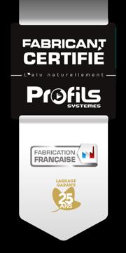 Vérandas & Fenêtre de France, fabricant certifié par Profils systemes